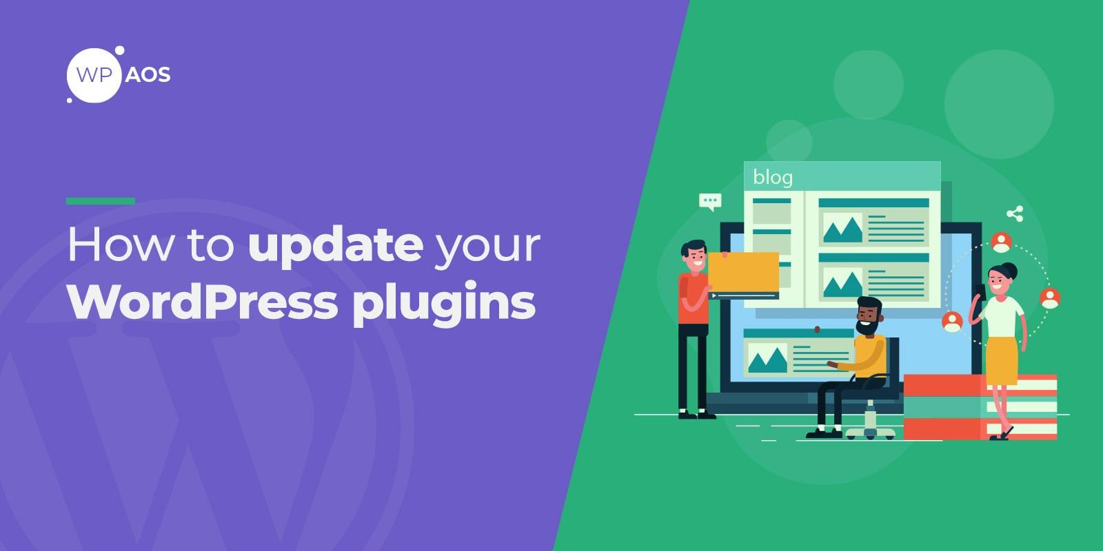 update wordpress plugins, wpaos