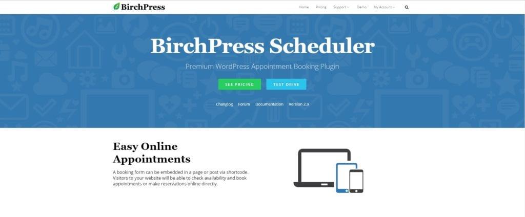 BirchPress booking plugin post img
