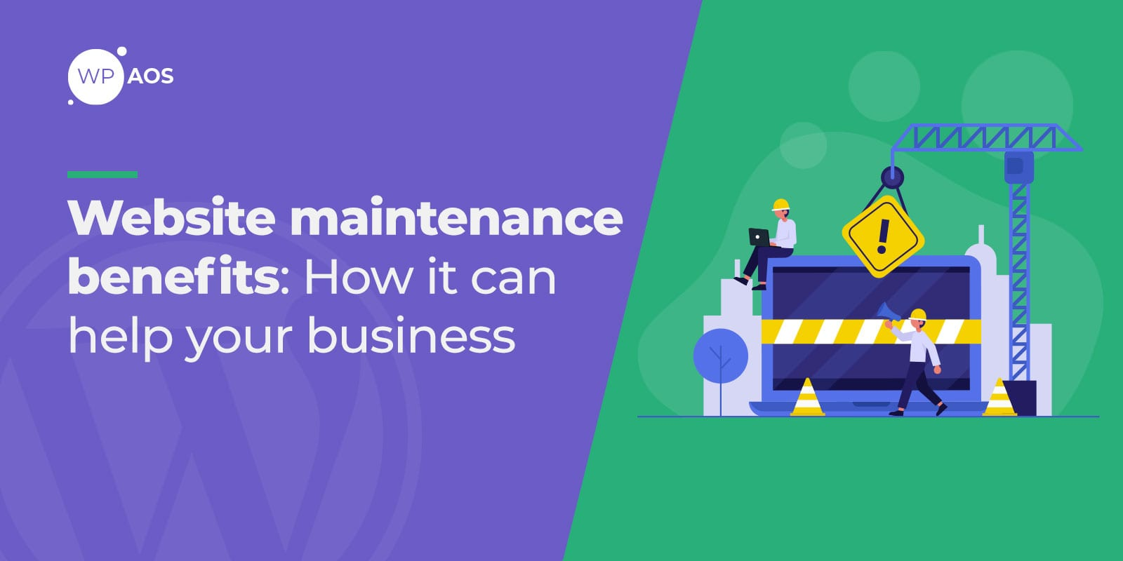 website maintenance benefits, WordPress service, wpaos