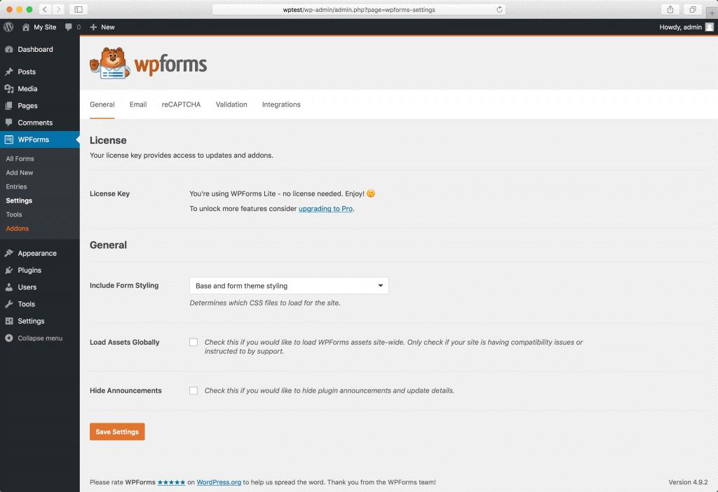 Using WPforms to customize login screen