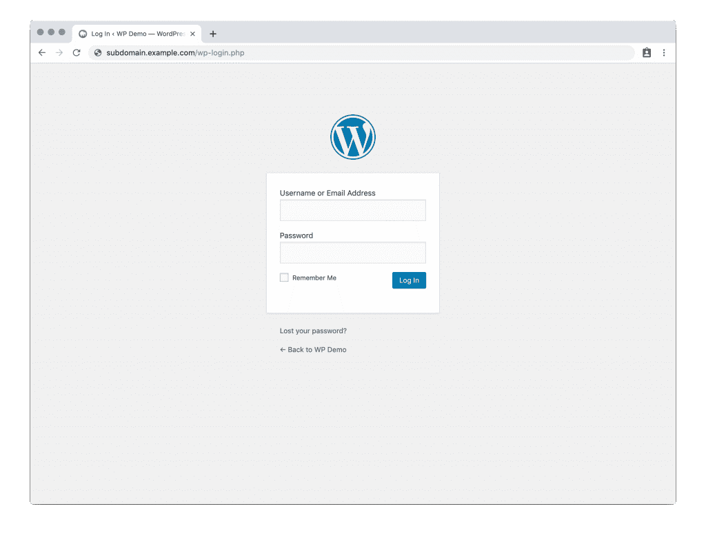 Subdomain login