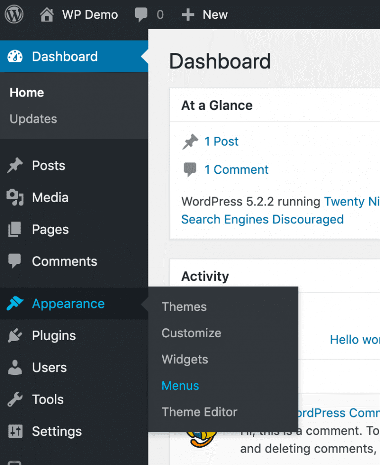 Accessing WordPress login url