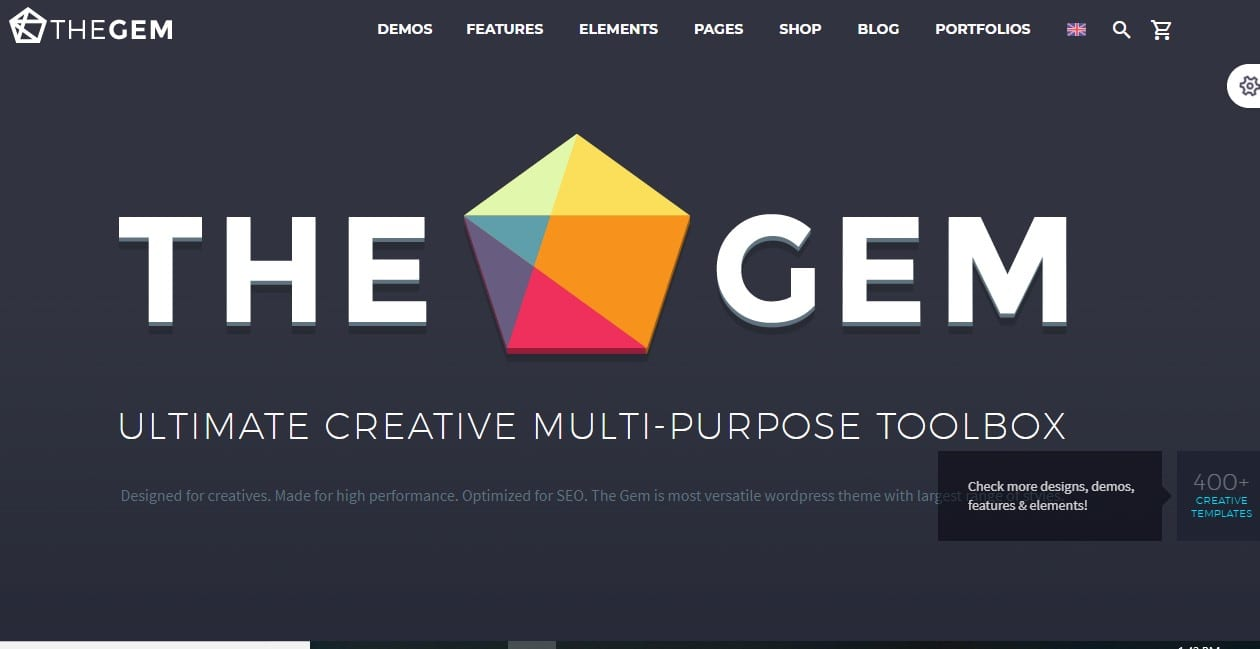 the gem one of the fastest WordPress themes