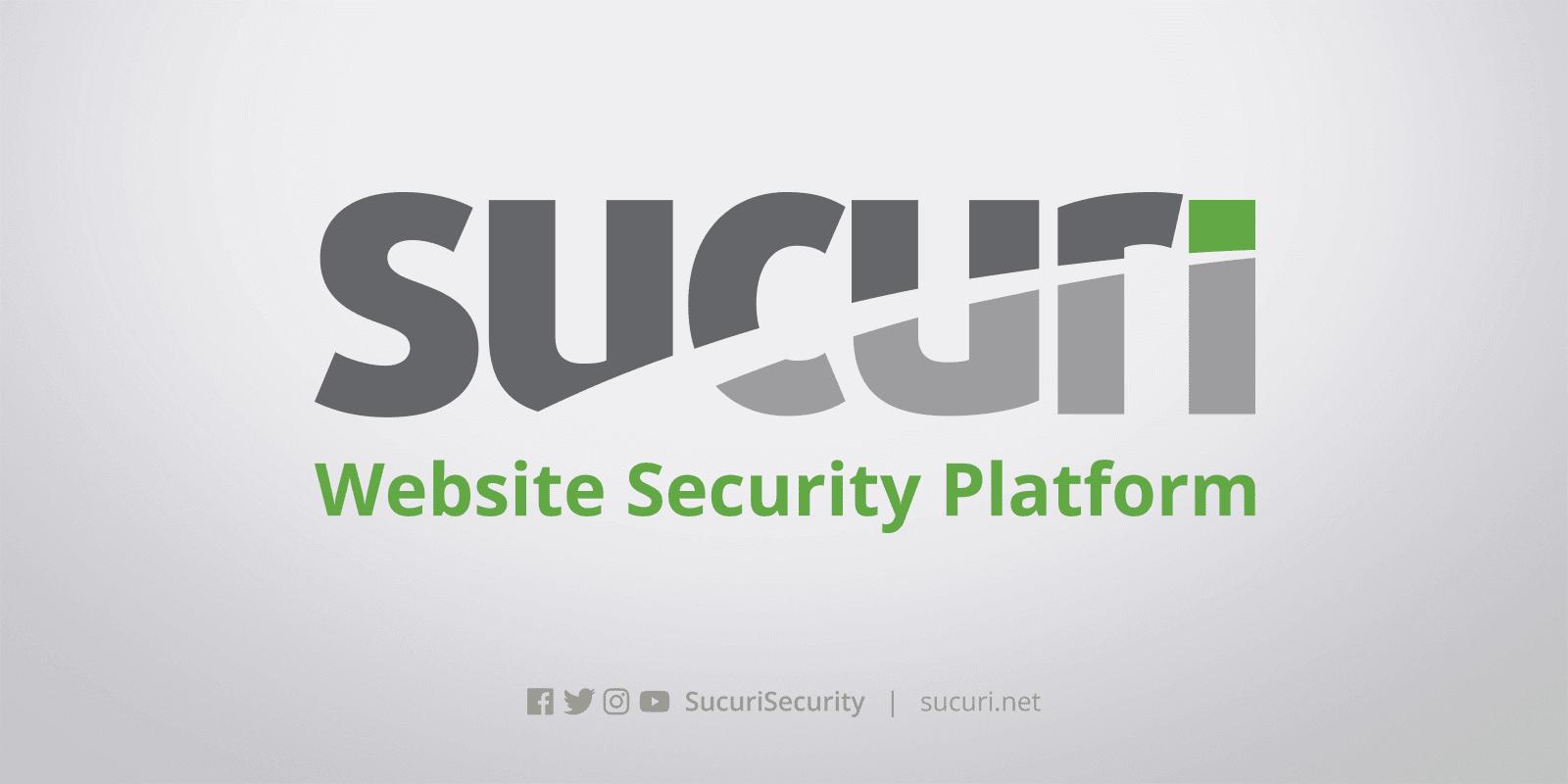 WordPress Sucuri security plugin