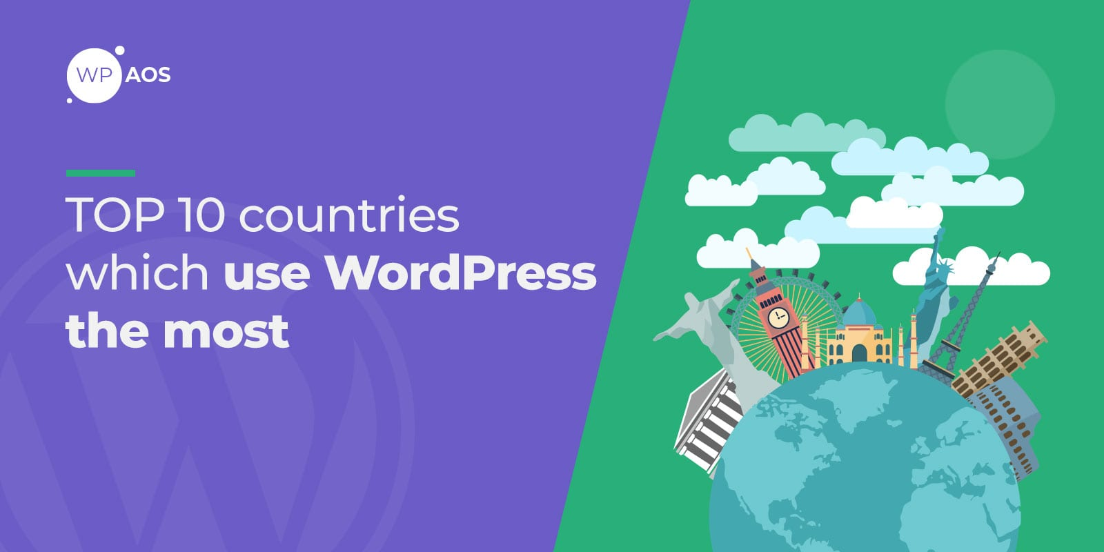 TOP Countries use WordPress in 2020, wpaos