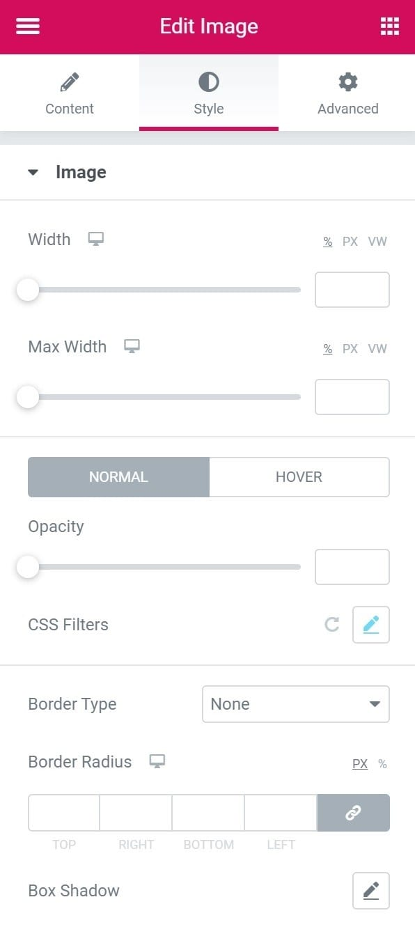 styling in elementor page builder