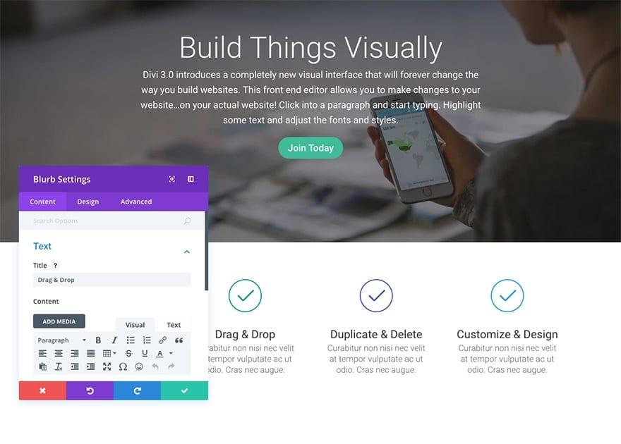 Building using DIVI
