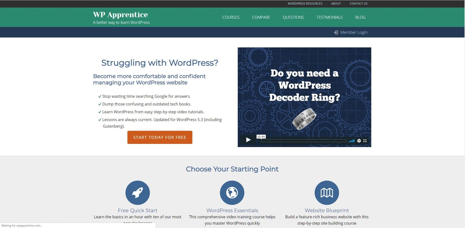 Learn WordPress with WP apprentice