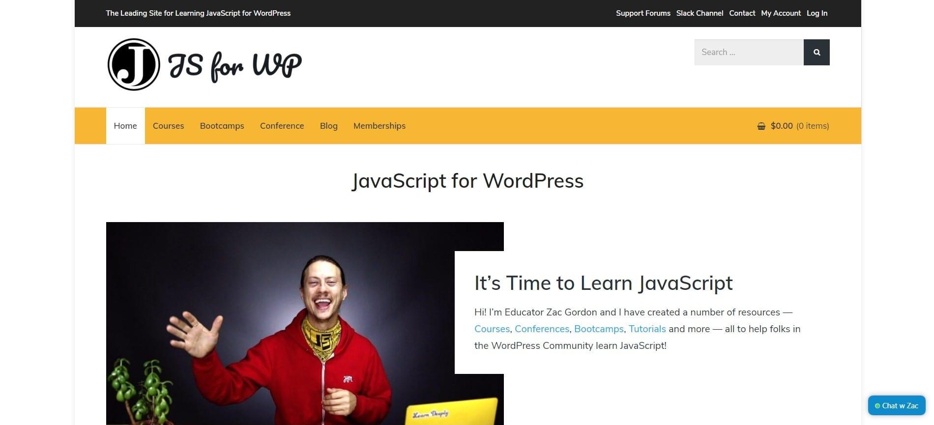Learn WordPress with JavaScript for WordPress