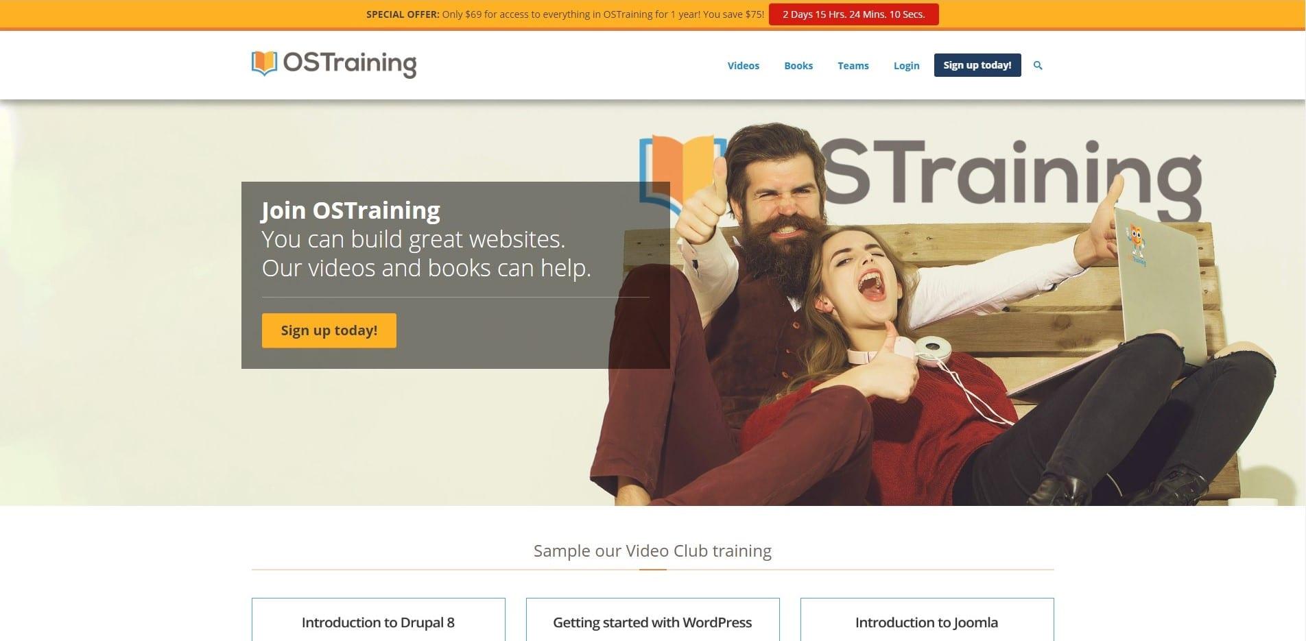 Learn WordPress with OS training