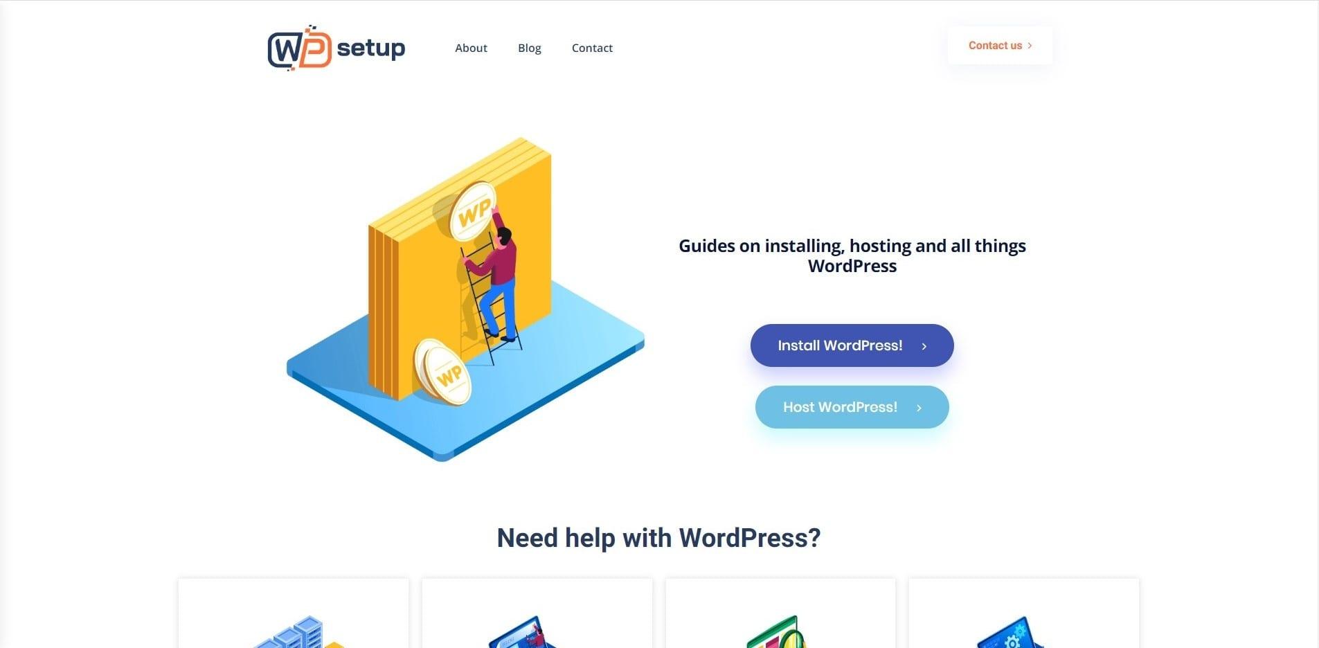 Learn WordPress with WP setup