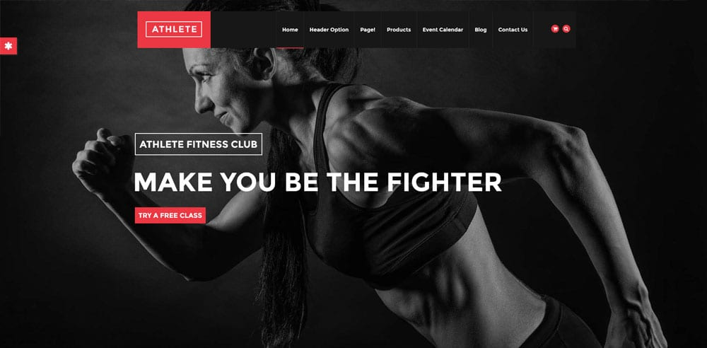 Athlete Fitness Theme, Best WooCommerce themes, online sports shops, WordPress Maintenance, wpaos