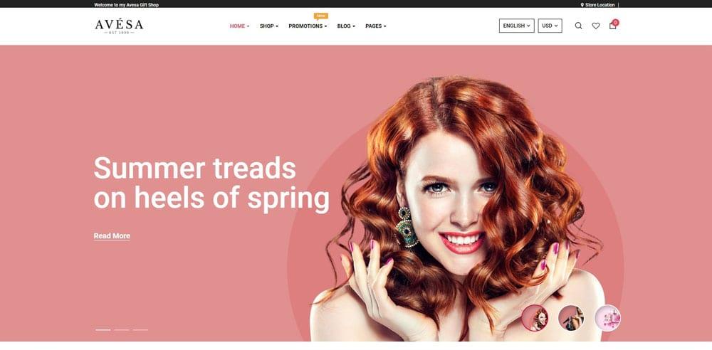 Avesa Theme, Best WooCommerce themes, Cosmetics body care shops, WordPress Maintenance, wpaos