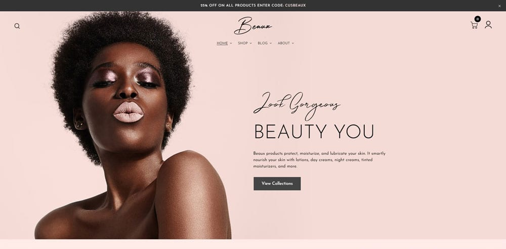 Beaux Theme, Best WooCommerce themes, Cosmetics body care shops, WordPress Maintenance, wpaos