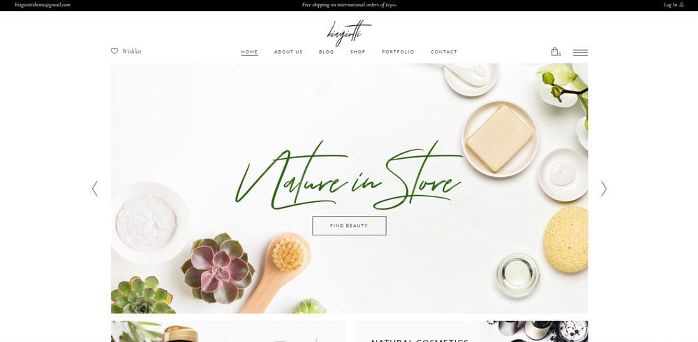 Biagiotti Theme, Best WooCommerce themes, Cosmetics body care shops, WordPress Maintenance, wpaos