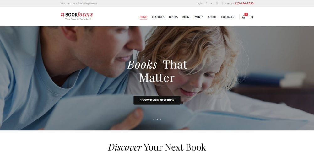 Booklovers Theme, Best WooCommerce themes, online books shops, WordPress Maintenance, wpaos