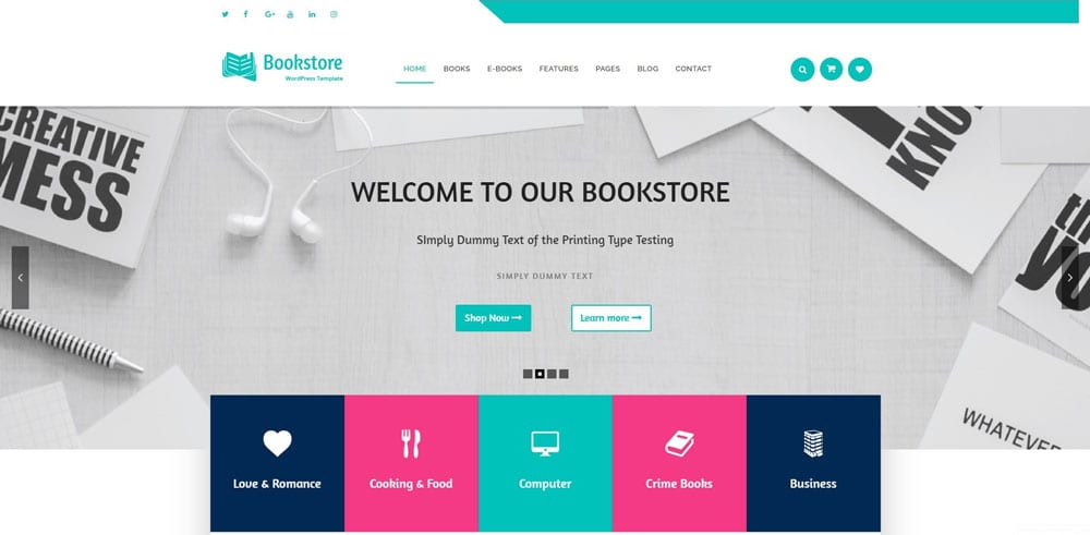 Bookstore Theme, WordPress Maintenance, wpaos