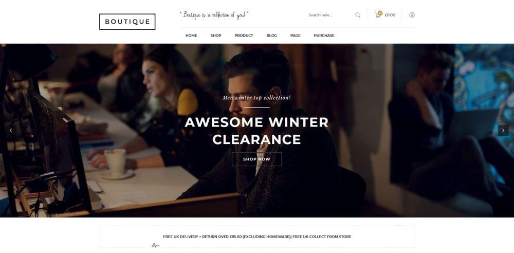 Boutique Theme, Best WooCommerce themes, Clothing Store, WordPress Maintenance, wpaos