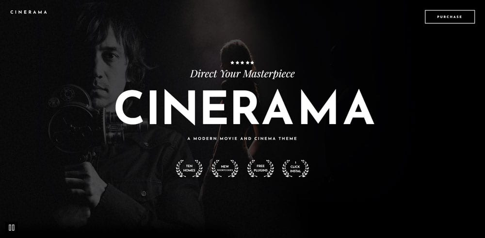 Cinerama Theme, Best WooCommerce themes, online movies shops, WordPress Maintenance, wpaos