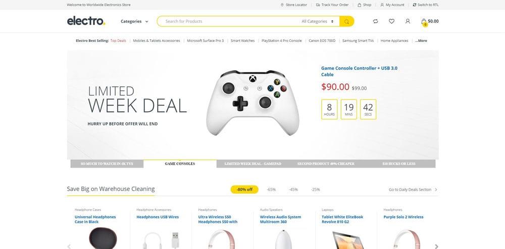 Electro Theme, Best WooCommerce themes, Electronics Shop, WordPress Maintenance, wpaos
