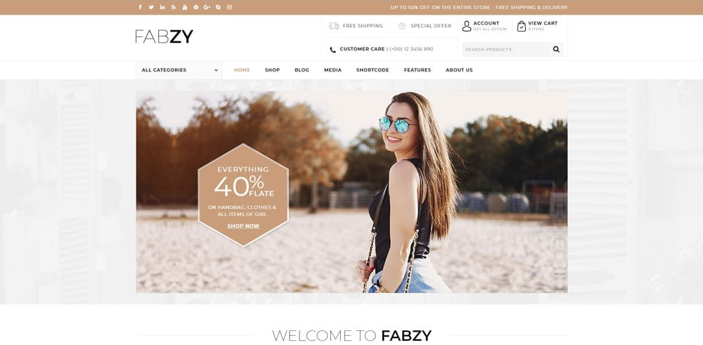 Fabzy Theme, Best WooCommerce themes, Shoe Shop, WordPress Maintenance, wpaos
