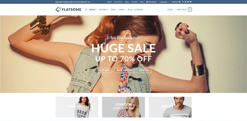 Flatsome Theme, Best WooCommerce themes, Bags Accessories Shops, WordPress Maintenance, wpaos