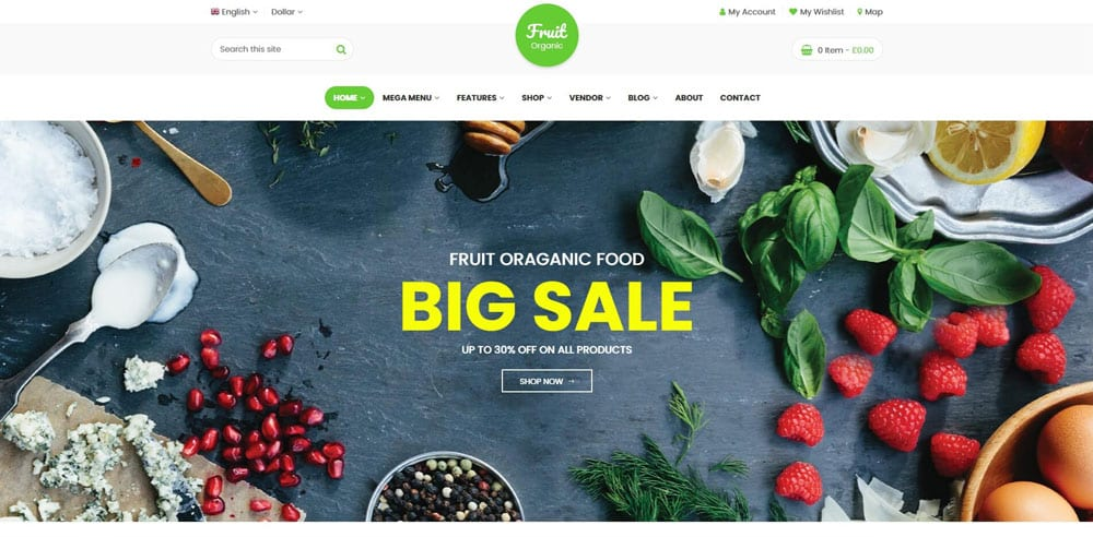 Food Fruit Theme, WordPress Maintenance, wpaos
