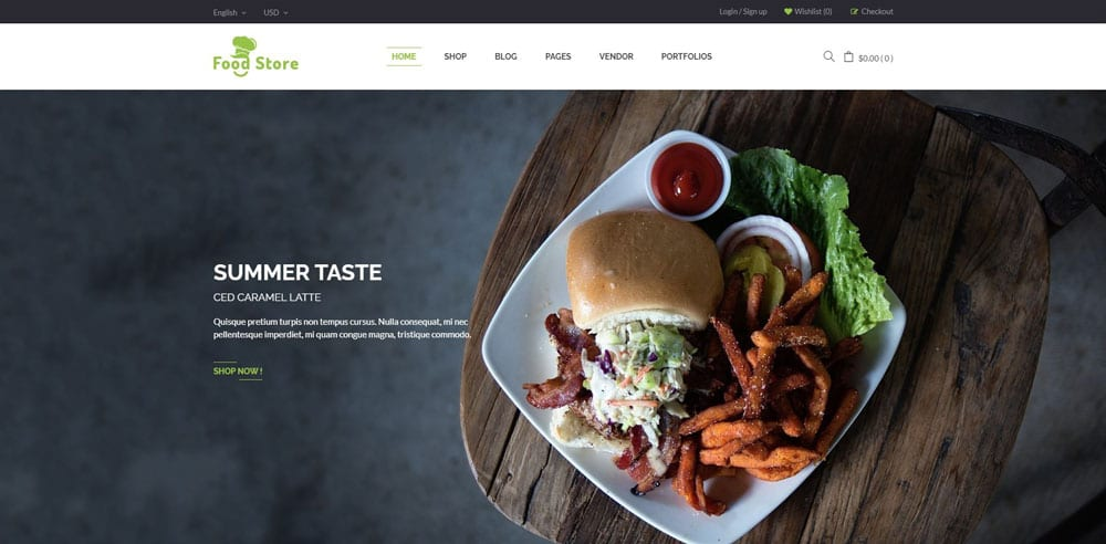 Food Store Theme, Best WooCommerce themes, online food shops, WordPress Maintenance, wpaos