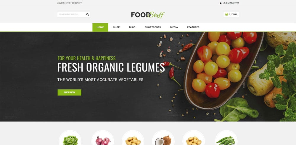 Food Stuff Theme, Best WooCommerce themes, online food shops, WordPress Maintenance, wpaos