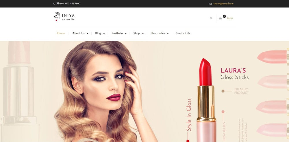 Iniya Theme, Best WooCommerce themes, Cosmetics body care shops, WordPress Maintenance, wpaos
