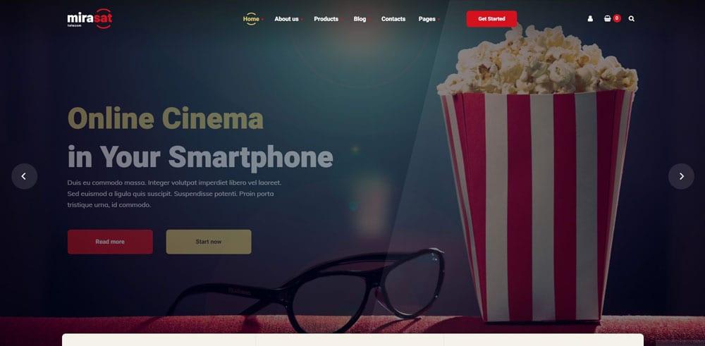 Mirasat Theme, Best WooCommerce themes, online movies shops, WordPress Maintenance, wpaos