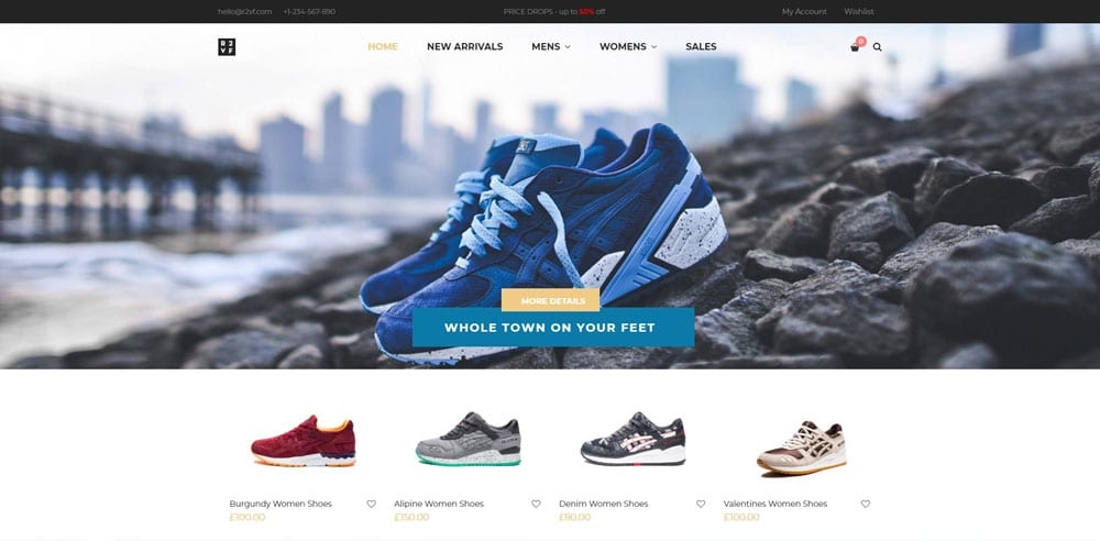 Nitro Theme, Best WooCommerce themes, Shoe Shop, WordPress Maintenance, wpaos