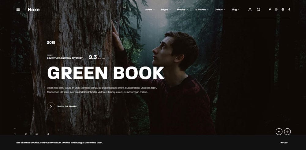 Noxe Theme, Best WooCommerce themes, online movies shops, WordPress Maintenance, wpaos