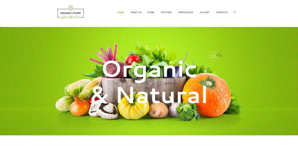 Organic Store Theme, Best WooCommerce themes, online food shops, WordPress Maintenance, wpaos