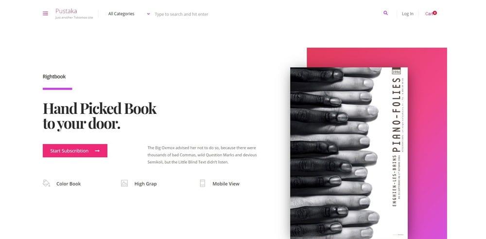 Pustaka Theme, Best WooCommerce themes, online books shops, WordPress Maintenance, wpaos