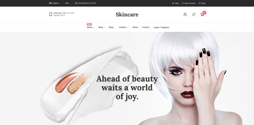 Skincare Theme, WordPress Maintenance, wpaos