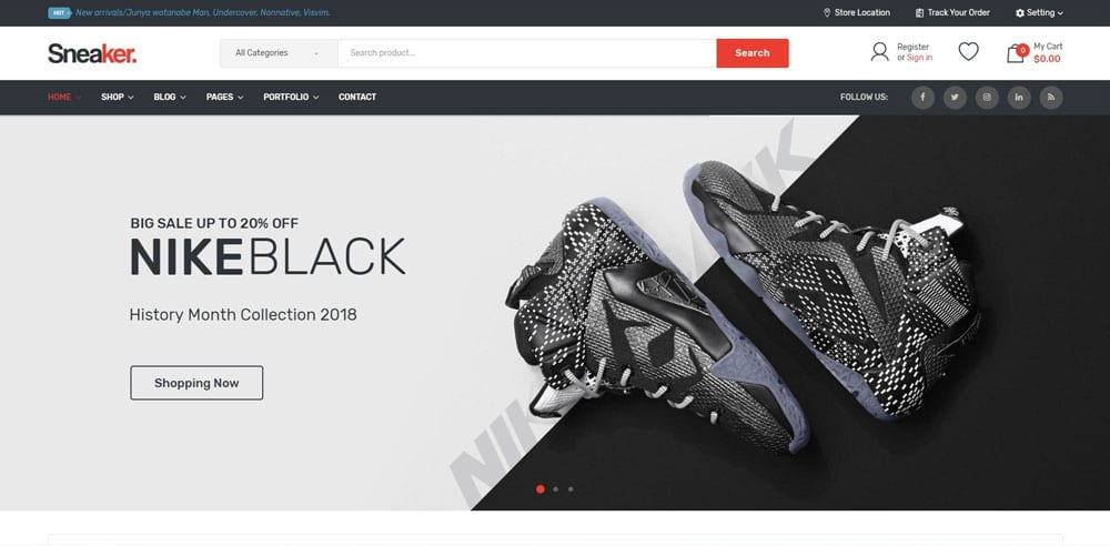Sneaker Theme, Best WooCommerce themes, Shoe Shop, WordPress Maintenance, wpaos