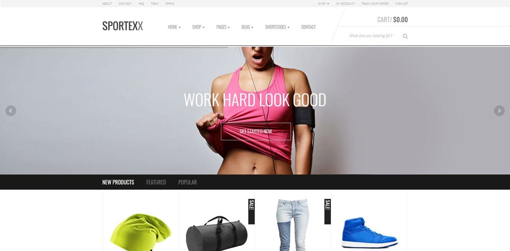 Sportexx Theme, Best WooCommerce themes, online sports shops, WordPress Maintenance, wpaos