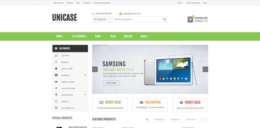 Unicase Theme, WordPress Maintenance, wpaos