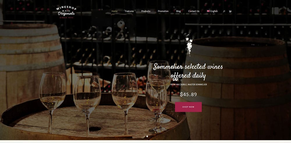 Wine Shop Theme, WordPress Maintenance, wpaos