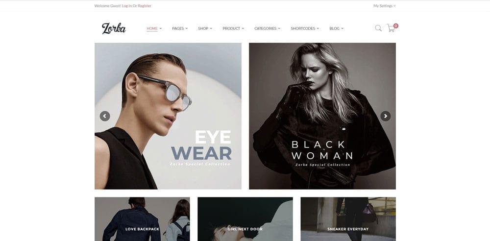 Zorka Theme, Best WooCommerce themes, Clothing Store, WordPress Maintenance, wpaos