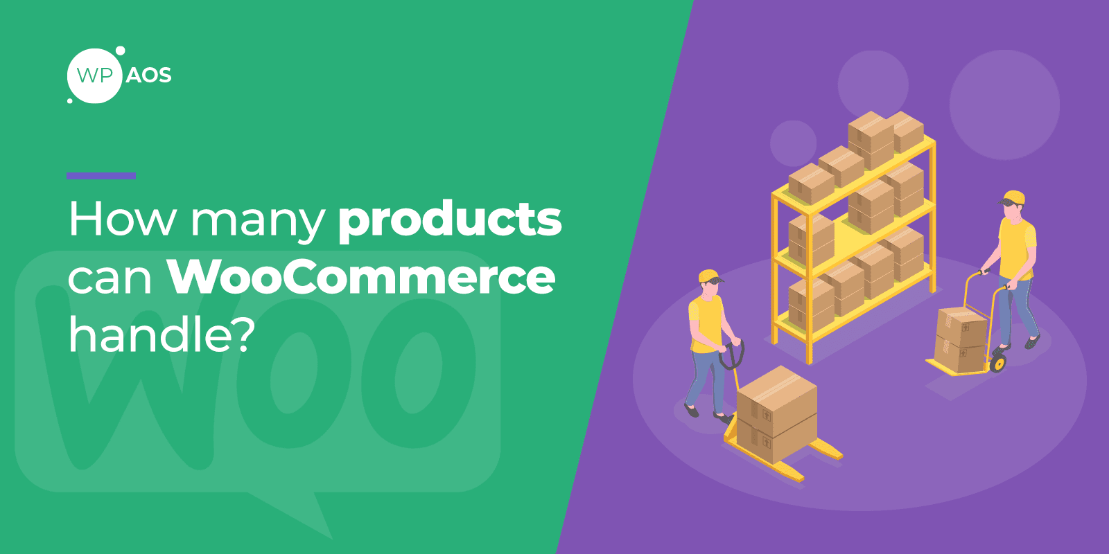 how many products can WooCommerce handle, ecommerce maintenance, wpaos