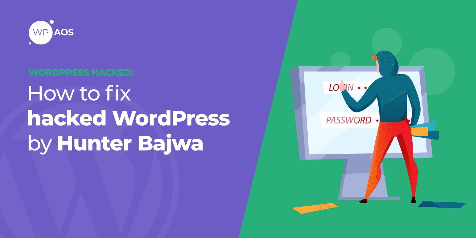 Hacked by Hunter Bajwa, WordPress Error, wpaos
