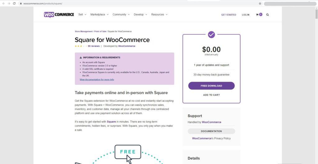 Square wooCommerce