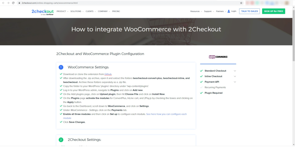 woocommerce 2checkout