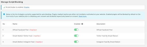 GDPR cookie consent WordPress