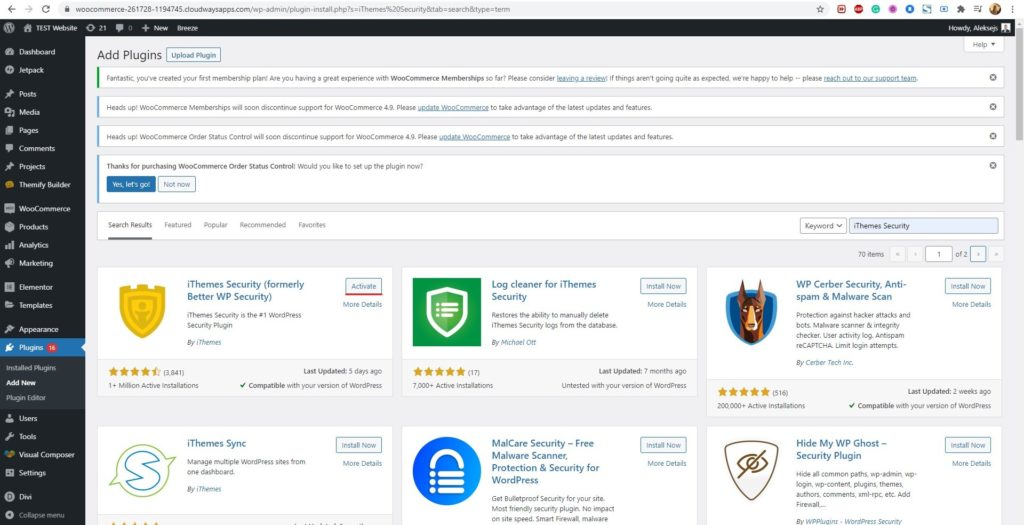 WordPress iThemes Security