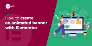 Elementor animated banner