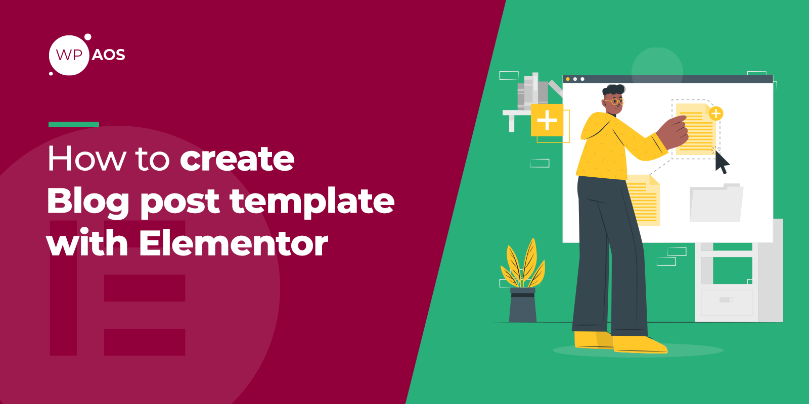 Elementor blog template